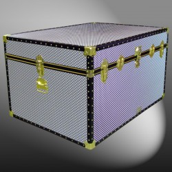 01-231 EMB EMBOSSED Super Jumbo Storage Trunk with ABS Trim