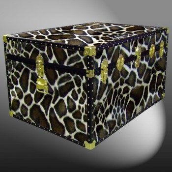 01-224 G FAUX GIRAFFE Super Jumbo Storage Trunk with ABS Trim
