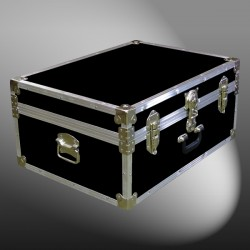 10-090 RE BLACK 27 Cabin Storage Trunk with Alloy Trim