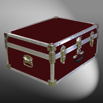 10-088 RE MAROON 27 Cabin Storage Trunk with Alloy Trim
