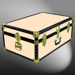 10-174 CL CHAMPAGNE LEATHERETTE 27 Cabin Storage Trunk with ABS Trim