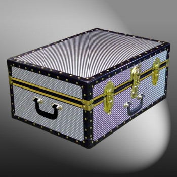 11-177 EMB EMBOSSED 24 Storage Trunk Case with ABS Trim