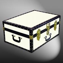 11-149 WOOD WASH CREAM 24 Storage Trunk Case with ABS Trim