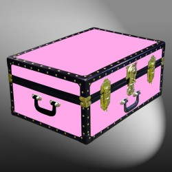 11-147 WOOD WASH PINK 24 Storage Trunk Case with ABS Trim