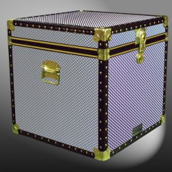 20-193 EMB EMBOSSED Cube Storage Trunk with ABS Trim