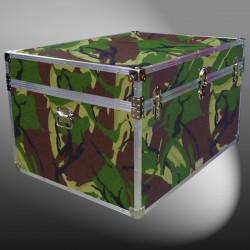 01-182 JCE JUNGLE CAMO Super Jumbo Storage Trunk with Alloy Trim