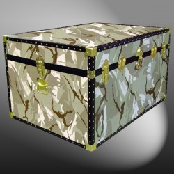 01-184 DS DESERT STORM CAMO Super Jumbo Storage Trunk with ABS Trim