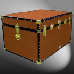01-179 PREMIER LEATHERGRAIN ALMOND Super Jumbo Storage Trunk with ABS Trim