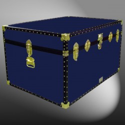 01-143 R NAVY Super Jumbo Storage Trunk with ABS Trim