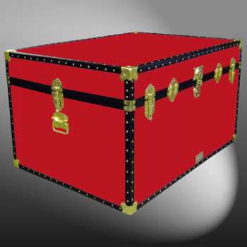 01-141 R RED Super Jumbo Storage Trunk with ABS Trim