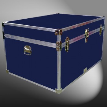 01-149 RE NAVY Super Jumbo Storage Trunk with Alloy Trim