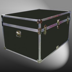 01-146 RE OLIVE Super Jumbo Storage Trunk with Alloy Trim