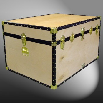 01-134 W WOOD Super Jumbo Storage Trunk with ABS Trim