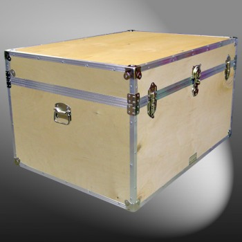 01-135 WE WOOD Super Jumbo Storage Trunk with Alloy Trim