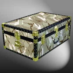 10-142 DS DESERT STORM CAMO 27 Cabin Storage Trunk with ABS Trim
