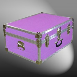 10-149 E WOOD WASH PURPLE 27 Cabin Storage Trunk with Alloy Trim
