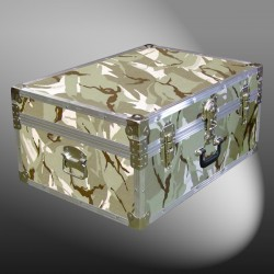 10-143 DSE DESERT STORM CAMO 27 Cabin Storage Trunk with Alloy Trim