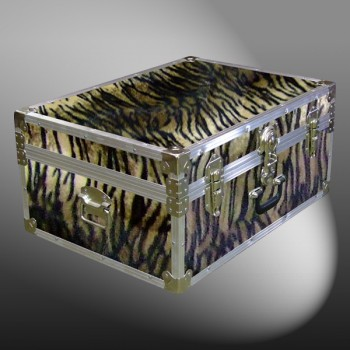 10-183 TIE FAUX TIGER 27 Cabin Storage Trunk with Alloy Trim