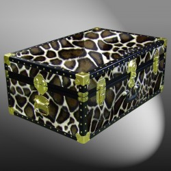 10-180 G FAUX GIRAFFE 27 Cabin Storage Trunk with ABS Trim