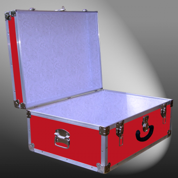 10-087 RE RED 27 Cabin Storage Trunk with Alloy Trim