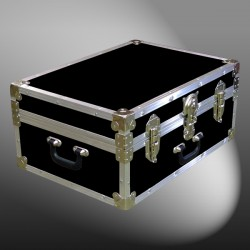 11-088 RE BLACK 24 Storage Trunk Case with Alloy Trim
