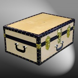 11-069 W WOOD 24 Storage Trunk Case with ABS Trim