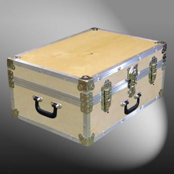 11-070 WE WOOD 24 Storage Trunk Case with Alloy Trim
