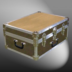 11-142 E WOOD WASH BROWN 24 Storage Trunk Case with Alloy Trim