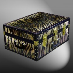 11-172 TI FAUX TIGER 24 Storage Trunk Case with ABS Trim