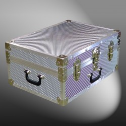 11-178 EMBE EMBOSSED 24 Storage Trunk Case with Alloy Trim