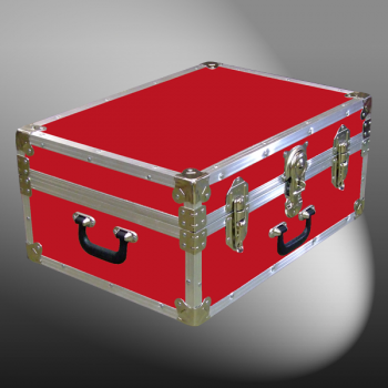 11-085 RE RED 24 Storage Trunk Case with Alloy Trim