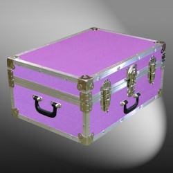 11-146 E WOOD WASH PURPLE 24 Storage Trunk Case with Alloy Trim