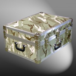 11-140 DSE DESERT STORM CAMO 24 Storage Trunk Case with Alloy Trim