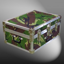 11-136 JCE JUNGLE CAMO 24 Storage Trunk Case with Alloy Trim