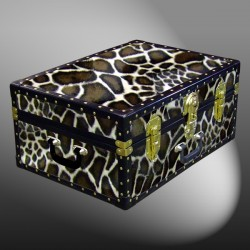 11-170 G FAUX GIRAFFE 24 Storage Trunk Case with ABS Trim