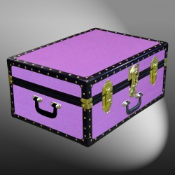 11-145 WOOD WASH PURPLE 24 Storage Trunk Case with ABS Trim