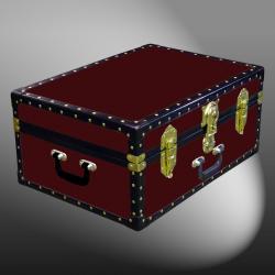 11-080 R MAROON 24 Storage Trunk Case with ABS Trim
