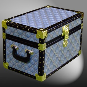 12-075.5 BLW BLUE WEAVE Tuck Box Storage Trunk with ABS Trim