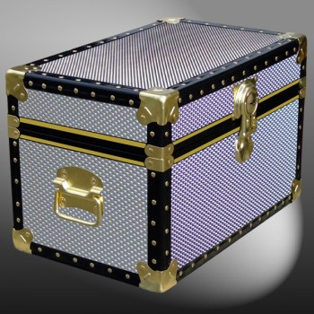 12-109 EMB EMBOSSED Tuck Box Storage Trunk with ABS Trim