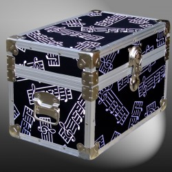 12-083 MBE MUSIC BARS Tuck Box Storage Trunk with Alloy Trim