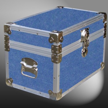 12-063.5 DFDE FADED DENIM Tuck Box Storage Trunk with Alloy Trim