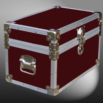 12-060 RE MAROON Tuck Box Storage Trunk with Alloy Trim
