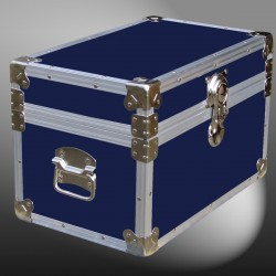 12-060.5 RE NAVY Tuck Box Storage Trunk with Alloy Trim