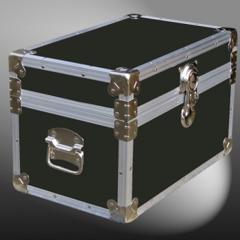 12-059 RE OLIVE Tuck Box Storage Trunk with Alloy Trim