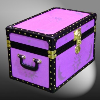 12-079.5 PURPLE & STARS WOOD WASH Tuck Box Storage Trunk with ABS Trim