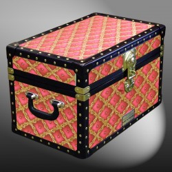 12-074.5 BW BURGUNDY WEAVE Tuck Box Storage Trunk with ABS Trim