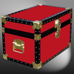 12-056.5 R RED Tuck Box Storage Trunk with ABS Trim
