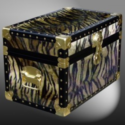 12-106 TI FAUX TIGER Tuck Box Storage Trunk with ABS Trim