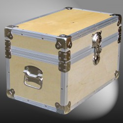 12-047 WE WOOD Tuck Box Storage Trunk with Alloy Trim