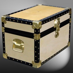 12-046 W WOOD Tuck Box Storage Trunk with ABS Trim